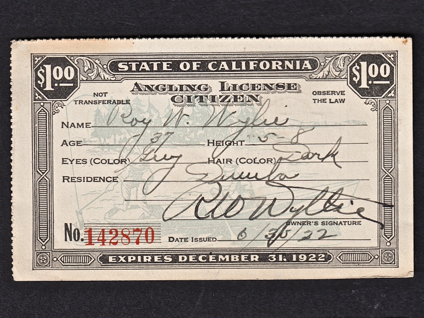 california fishing licenses