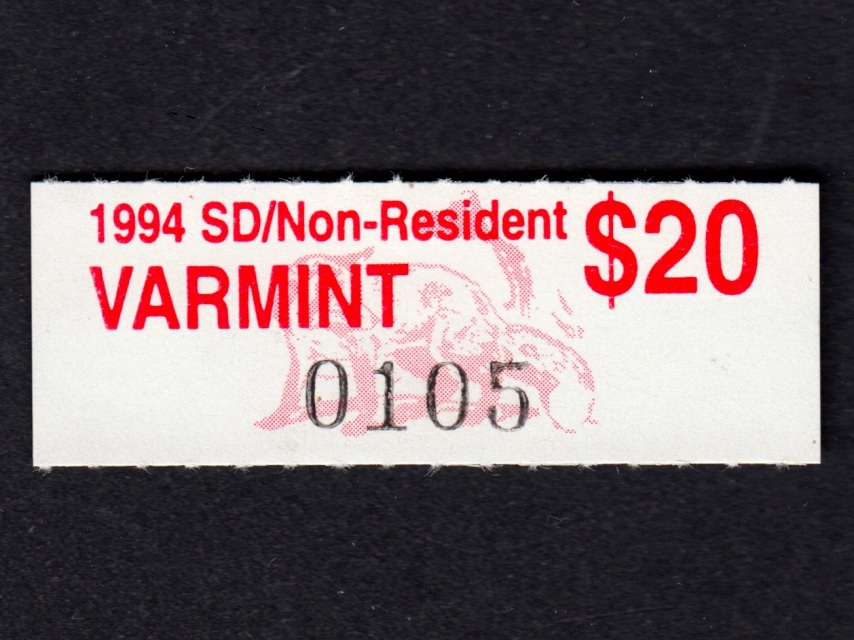 Cc60 1994 varmint sd non resident for Sc non resident fishing license