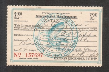 California fishing licenses for Calif fishing license