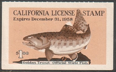 Old california fishing license stamps for Where to buy california fishing license