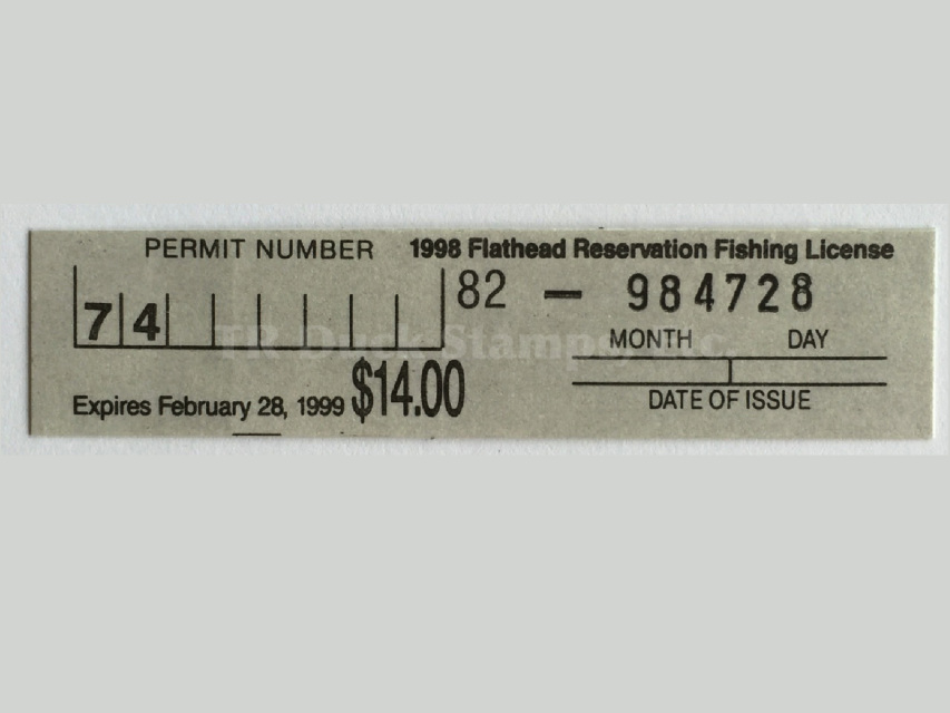 Flathead indian reservation hunting license stamps for How much does a lifetime fishing license cost